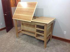 New art desk - WetCanvas: Online Living for Artists Studio Furniture, Wood Furniture, Furniture Design, Drawing Desk, Drawing Tables, Art Desk, Storage, Home Decor, Easels