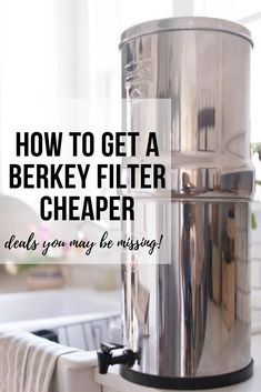 How To Get A Berkey Water Filter For A Deal Water Filter