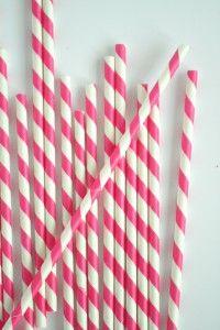 Pink candy stripe straws