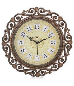 Fiesta Steven1618 Golden Designer Analog 41 cm Dia Wall Clock