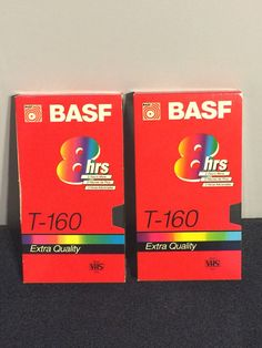 VHS Video Tapes (2) - BASF - T160 - XLong - Up To 8 Hours - Pristine!! in Consumer Electronics, TV, Video & Home Audio, TV, Video & Audio Accessories | eBay