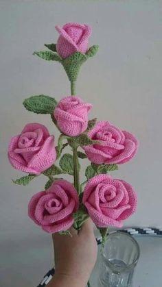 As mais belas rosas em crochê com passo a passo
