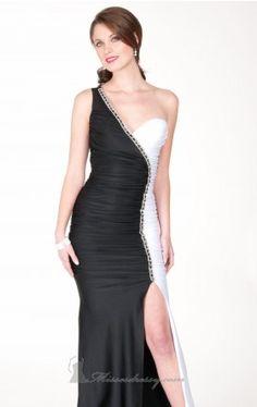 single shoulder floor length gown atria Atria AC1117 Dress