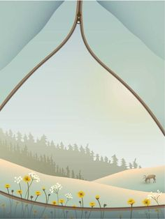 Tent with a view plakat fra ViSSEVASSE med telt og blomster Tent Camping, Outdoor Camping, Eco Friendly Paper, One With Nature, T Art, Camping Checklist, Free Prints, Travel Posters, Rolls Royce