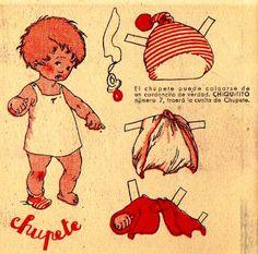 VIÑETAS: RECORTABLES DE CHIQUITITO paper doll