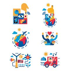 Vector SPOT illustrations | editorials madefor differents magazines and creative studios.