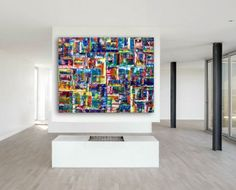 """Get Yourself Connected"" - Xt Large  Original Abstract Oil Painting On Canvas - 60 x 48 inches - 152.4 x 122 centimeters"