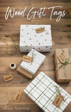 These wood gift tags adorable, and reusable! You can easily knock this project out in an afternoon and it will take your presents up a notch! Christmas Wrapping, Christmas Crafts, Christmas Decorations, Christmas Ideas, Rustic Christmas, Wood Gifts, Diy Gifts, Handmade Gifts, Fixer Upper