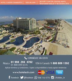Preventa del 2016, 3 noches desde $7,787 mxn por Dos Adultos en Todo Incluido, www.hotelesin.com Hotels