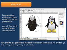 Diseño sencillo, solamente se requiren trazar circulos para darle forma al pinguino.