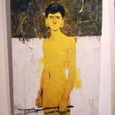 """Juan Ruiz (@jvan_rviz) """"Sunlight boy Oil & acrilic on canvas . . . . . . . #paint #painting #art #arte #yellow #sun…"""""""