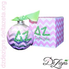 New DZ DeZigns Delta Zeta chevron ornament! Get one before they run out!!
