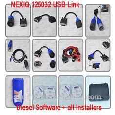 Update online 2015 new nexiq 125032 usb link diesel engine diagnostic scanner tool for heavy truck
