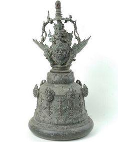 Vietnam, Temple Bells, Indonesian Art, Javanese, Hindu Art, Zbrush, Decorative Bells, Bronze, Pottery