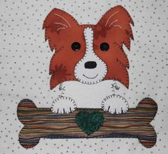 quilted wallhangings   More Dog Faces Quilted Wall Hangings