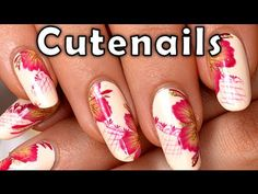 ▶ Floral vintage One stroke Nail art - YouTube