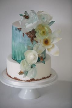 Waterside cake with flowers  - Cake by Happyhills Cakes