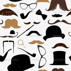 Seamless Pattern Mustache #GraphicRiver Art Deco seamless pattern, retro style, vector illustration mustache, hat, sunglasses, tube Created: 24October13 GraphicsFilesIncluded: JPGImage #VectorEPS Layered: No MinimumAdobeCSVersion: CS Tags: barber #beard #british #card #curl #dandy #doodle #drawing #eyeglass #facial #fashion #fashioned #glasses #hair #hat #head #illustration #male #men #moustache #mustache #old #pattern #pipe #pirate #retro #simple #symbol #vector #victorian