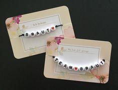 Gastgeschenke - Armbänder JGA 1x Braut + 10x Team Braut - ein Designerstück von StillandLove_byMarie bei DaWanda