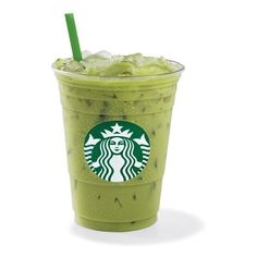Iced Green Tea Latte ❤ liked on Polyvore