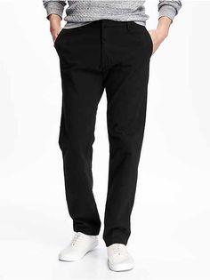 fdbc5dd3461 Old Navy Pants Mens Black Ultimate Slim Khakis Men 34 Khaki Pant