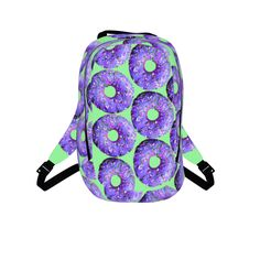 #purpledonut by #chefjenkins, #citrusreport, #backpack, #bookbag,, #fluffy, #yum, #sugar, #sweet, #doughnuts, #sprinkles, #purple #foodtshirt #foodclothes #foodprint #alloverfoodprint @Matty Chuah Citrus Report