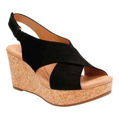 b1130b0ecb768 Clarks Women s Annadel Eirwyn Slingback Wedge Sandal