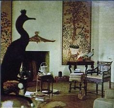 Pauline de Rothschild's chinoiserie bedroom at Chateau Mouton.  Photo by Horst P. Horst, Vogue.