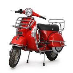 Red Vespa chrome