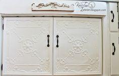 Antique Ceiling Tile Cabinet Doors