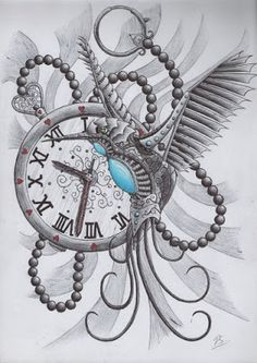 plantillas -de- tatuajes-diseños- de- relojes                                                                                                                                                      Más