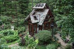 Meditation Pavilion - asian - Landscape - Cleveland - Miriam's River House Designs, LLC