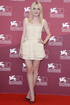 Dakota Fanning in Alexander McQueen at the Venice International Film Festival on August 31, 2013