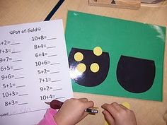 St. Patrick's Day Math Center Ideas