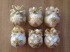 Matilda / Patchworkové gule - biela, vanilková, zlatá