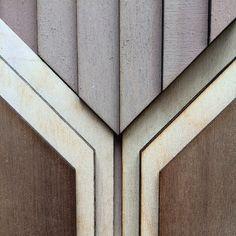 Atelier Anthony Roussel. Étagé colour wood tile, collection 01. Walnut & birch wood.