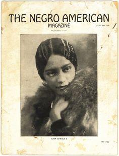 "Vintage ""The Negro American Magazine"".  Circa: October 1928"