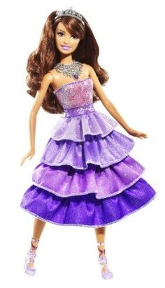 Barbie Sparkle Lights Purple Princess Doll by Mattel. $19.09. Girls will sure to love this doll. Get ready to shine bright. Just press her necklace and see her shine. Watch her shoes, belt, and necklace light up. A sparkling fun time. From the Manufacturer                Barbie Sparkle Lights Purple Princess Doll: Get ready to shine bright. A Barbie princess rules her kingdom with beauty and brains, style and substance seeking adventures that take her from pink car...