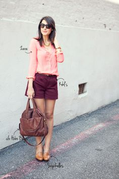 Peach pink + maroon for Fall
