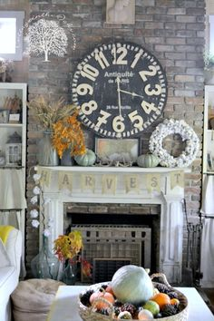 Autumn Mantel  Cottage in the Oaks