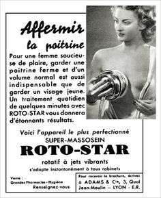 Soins du buste -Roto-Star 1952 Breast Washer