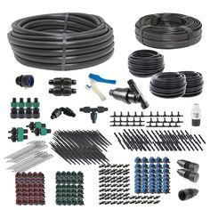 The Premium Drip Irrigation Kit for Vegetable Gardens can water up to 320 plants. Young House Love, Irrigation Controller, Drip Irrigation System, Water Faucet, Home Garden Design, Diy Projects For Beginners, Outdoor Dining Chairs, Led Grow Lights, Kit