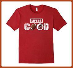 Mens Life is Good Football Shirt 3XL Cranberry - Sports shirts (*Partner-Link)