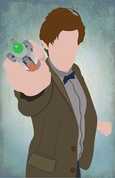 The 11th Doctor minimalist print
