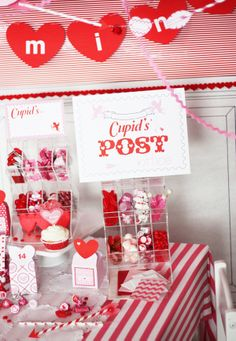 """Love the idea of having a little Post Office for a Valentine activity - could have 1 cent stamps for """"mailing"""" a big box for collection and mini boxes for everyone to have their mail delivered to"""