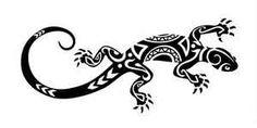 Tattoo Salamandre Lezard Neuf Tatoo Tatto Tatouage Motif Tribal Body