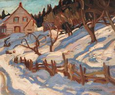 Alexander Young (A. Group Of Seven Paintings, Paintings I Love, Canadian Painters, Canadian Artists, Winter Painting, Silk Painting, Landscape Art, Landscape Paintings, Frank Johnson