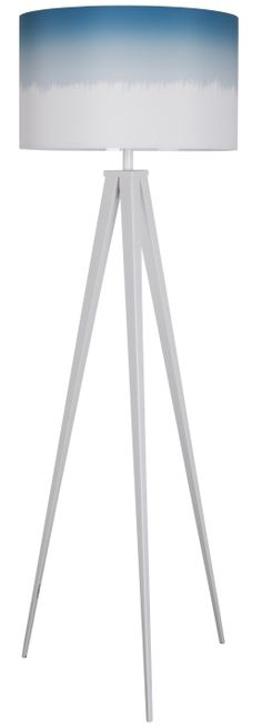 Tripod floor lamp dip dye Blue
