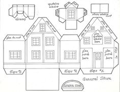 Glitter Houses Plans and Patterns - Putz Houses on Pinterest ...