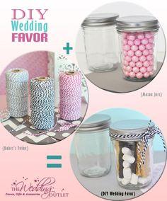 DIY #Wedding #Favors with mini #mason #jars
